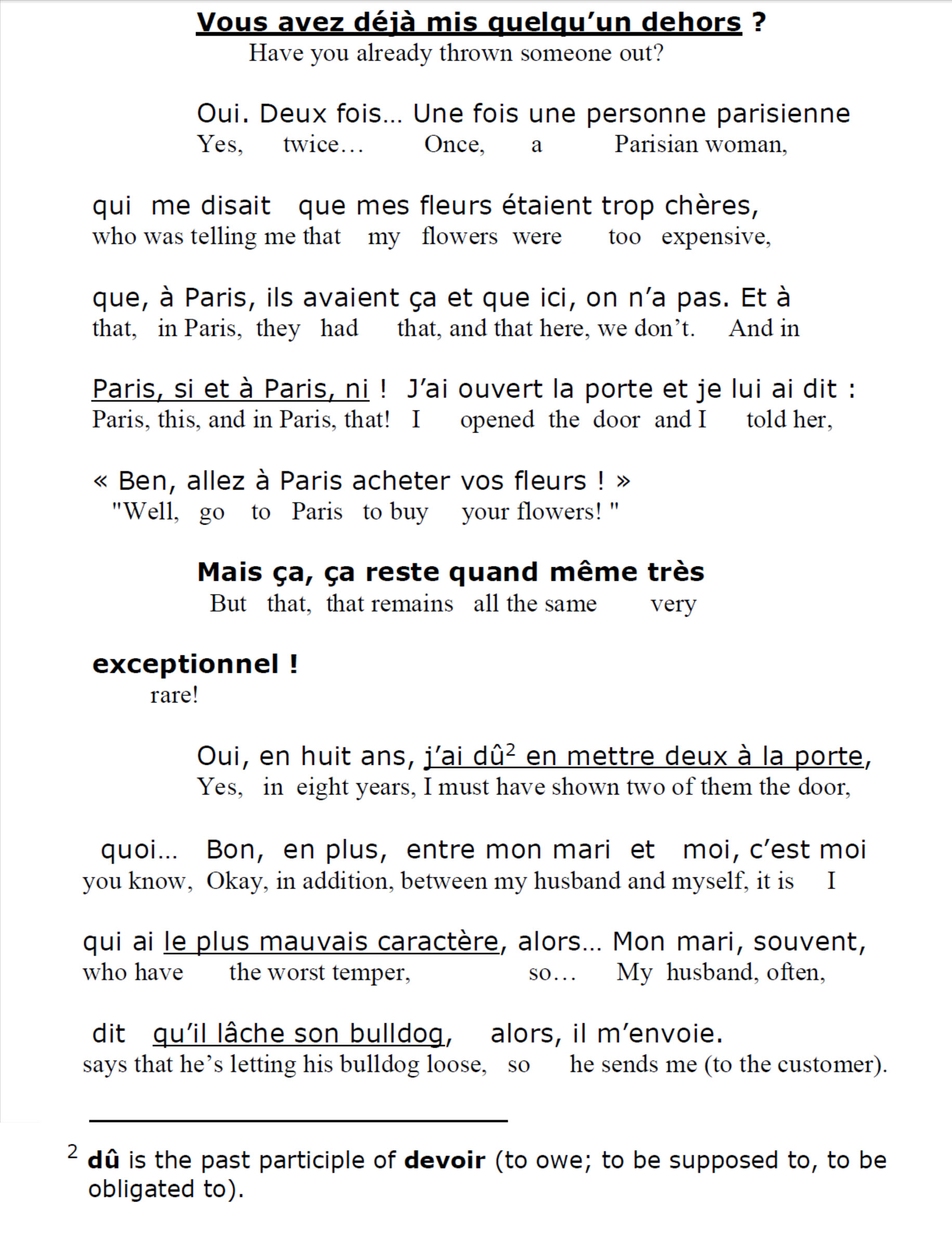 French Listening Comprehension - quoi at end of sentence